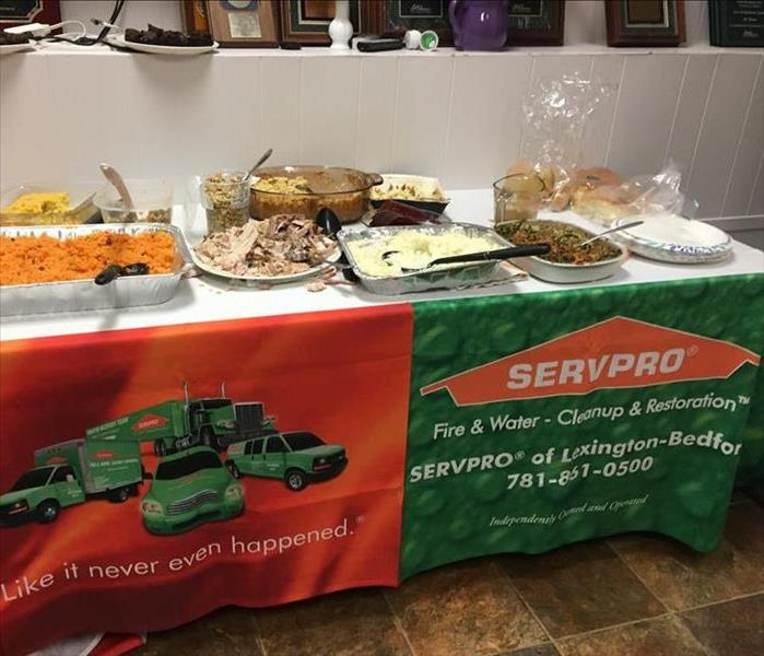 SERVPRO Thanksgiving Dinner Food on table