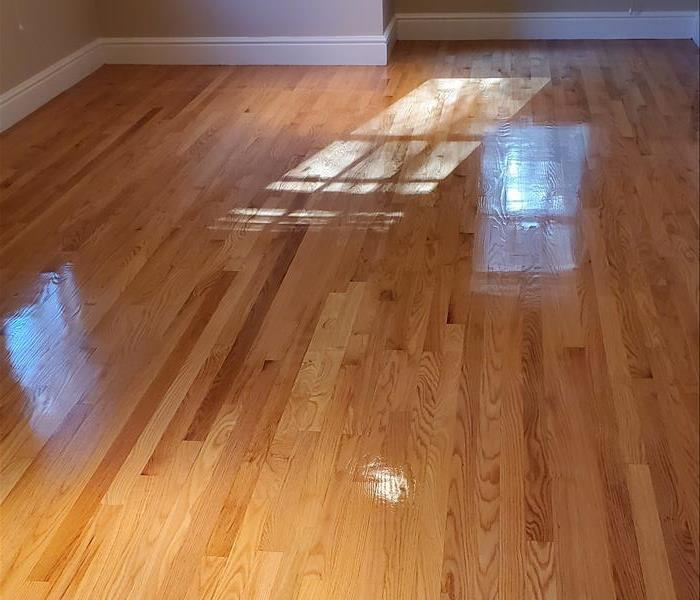hardwood floors in Weston MA refinished after water damage