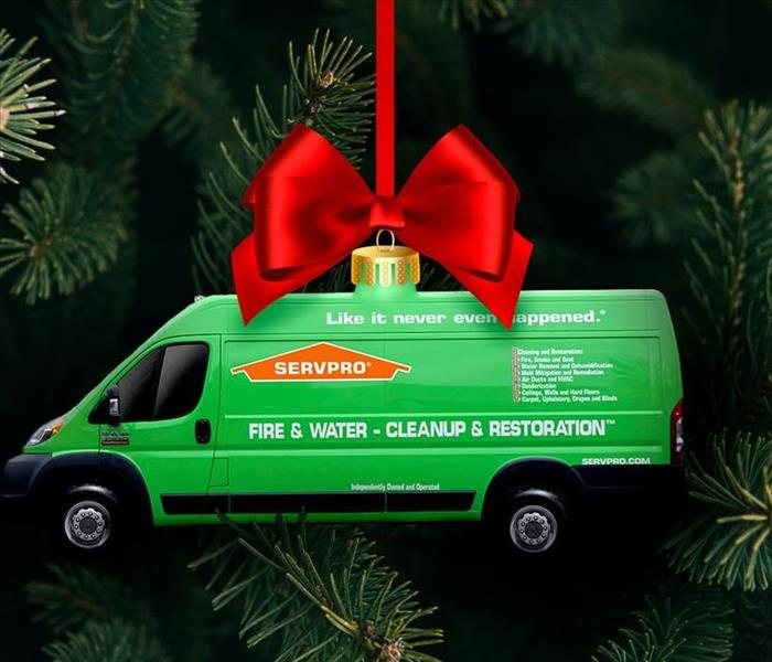 Christmas Tree with SERVPRO ornament
